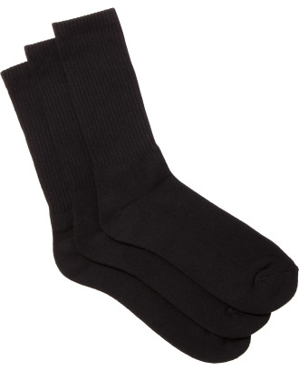 Basic Crew Socks Pack of Three