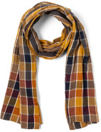 Double Faced Check Scarf $149.00