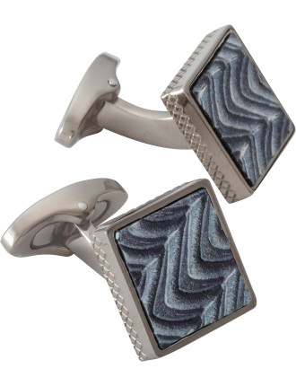 Square Wave pattern Cufflink