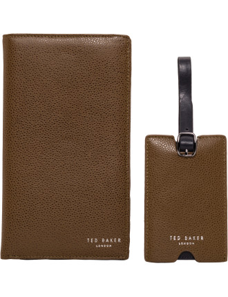 TRAVLA Travel wallet & Luggage tag gift set