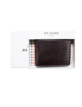Flex-Lock Trifold Leather Wallet with ID window