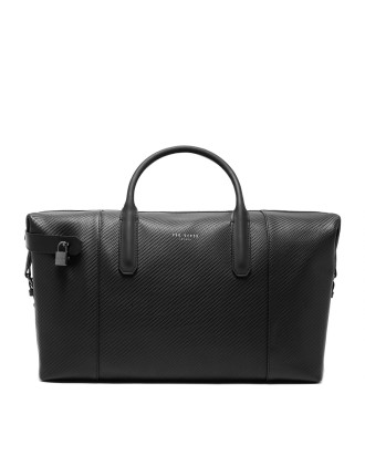 NOVANA carbon leather Holdall