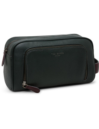 MOOFASA pebbled leather wash bag