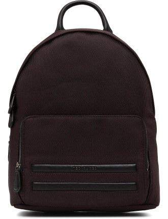 Nylon Backpack W/ Pu Trim