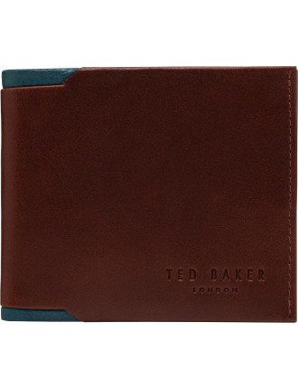 Contrast Leather 8cc Billfold Wallet