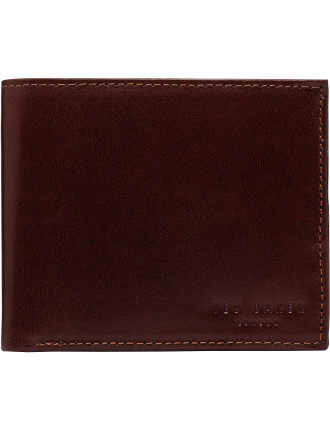 Smooth Leather 8cc Billfold W/ Printed Interior