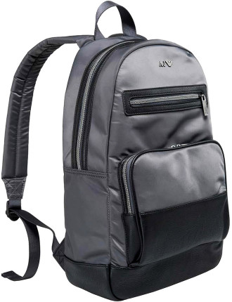 Nylon W/ Eco Leather Trim Back Pack