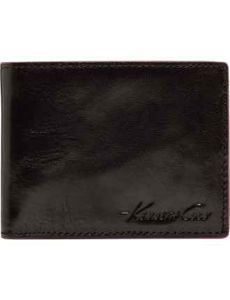 Bil Fold Style, Smooth Leather. With Internal Note Divider