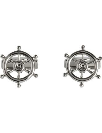 Ships Wheel Cufflink