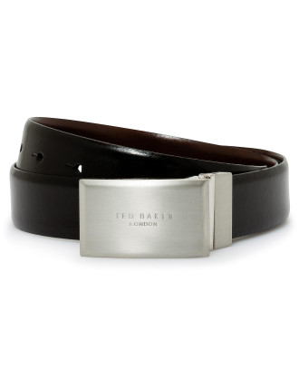 Logo Plate Buckle Smart Belt