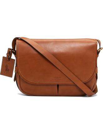 Smooth Leather Messenger Bag