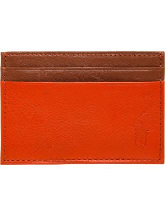 Pebble Leather 8cc Billfold  W Mny Clp