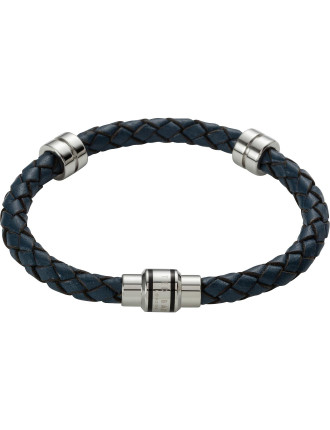 Metal And Leather Bracelet