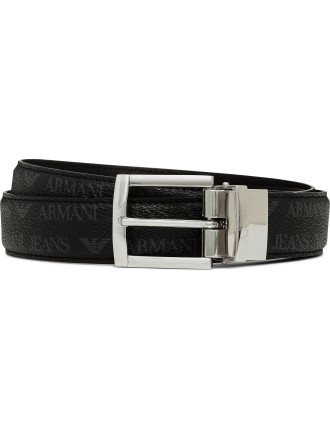 J4 Printed Eco Leather Reversible Belt