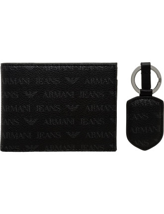 J4 Printed Eco Leather Wallet & Key Ring Gift Pack