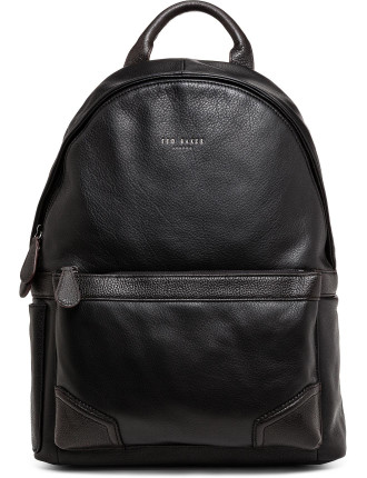 Leather Contrast Corner Backpack