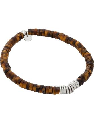 Rhodium Plated Bamboo Bracelet