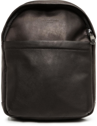 Colombian Leather Single Gusset Sling Backpack