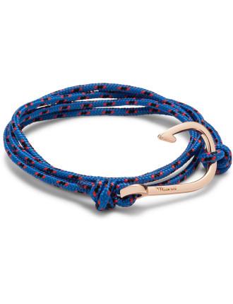 Hook On Rope Bracelet, Rose Plated