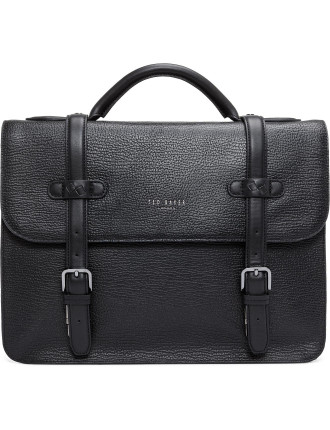 Woven Leather Satchel