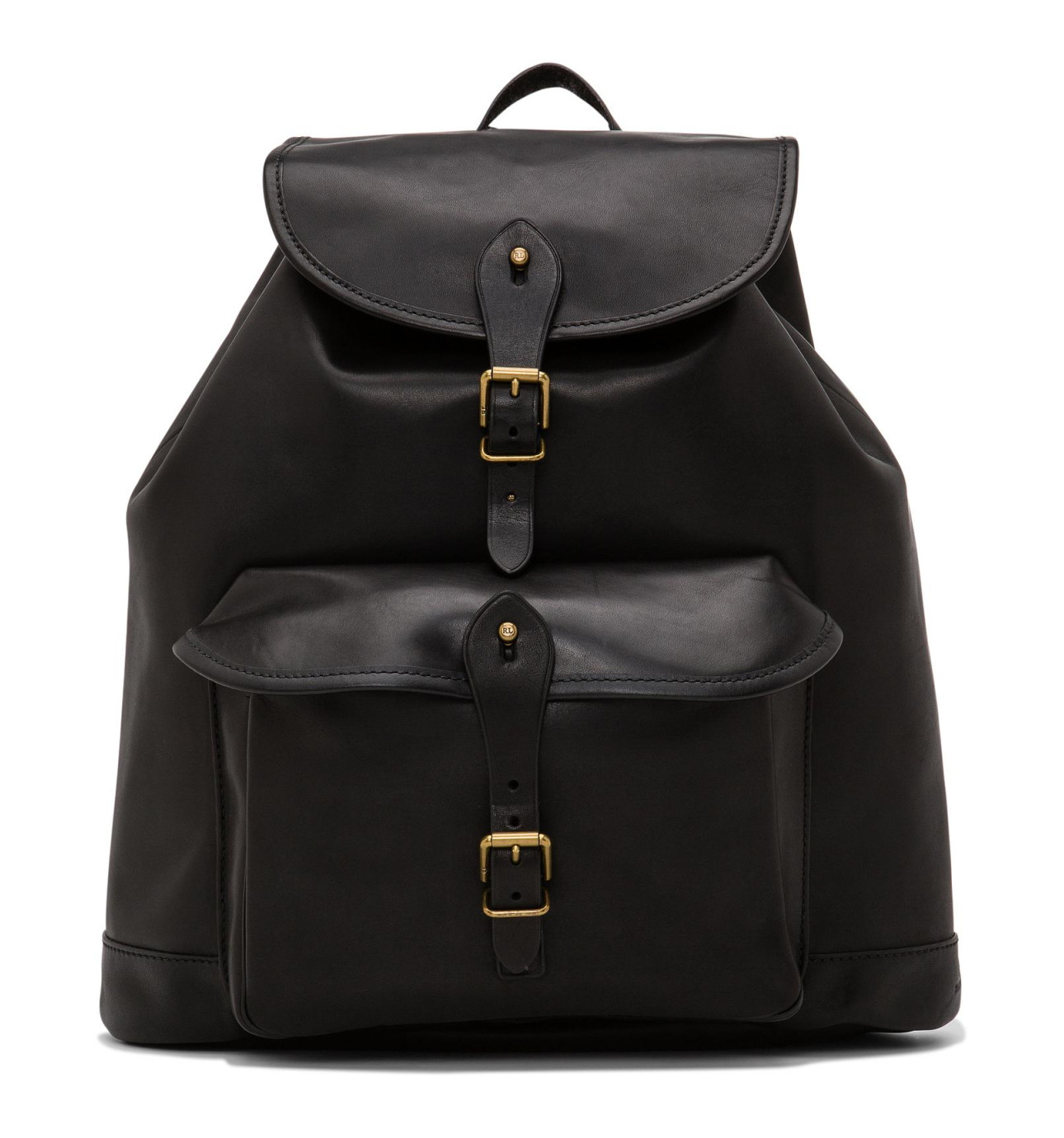 Smooth Leather Drawstring Backpack