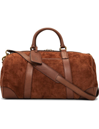 Large Smooth Leather Duffle Bag