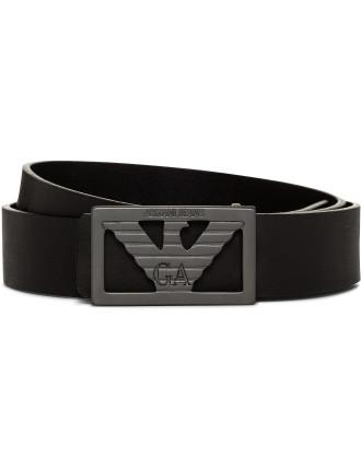 Logo Plate Buckle Jean Belt