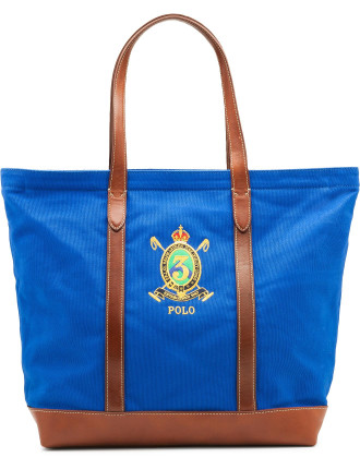 Embroidered Crest Tote