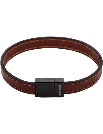 Leather Stitch Clasp Bracelet