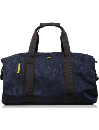 Digital camo printed nylon holdall
