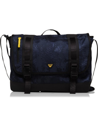Digital camo printed nylon E/W Messenger