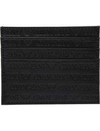 logo printed leather cc