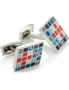 New Square Checkquer Cufflink $99.95