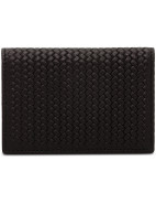 Woven Stamped Business Card Case W/ Nappa Interior $69.95