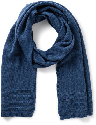 Washed Knitted Wool/Cashmere/Viscose/Poly Scarf