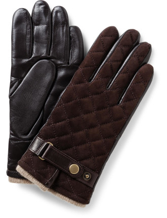 Quilted Suede & Nappa Palm Glove