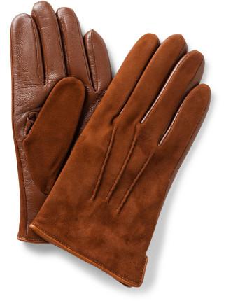 Suede & Nappa Palm Glove