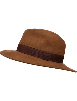 Indiana Jones Felt Fedora W/ Band
