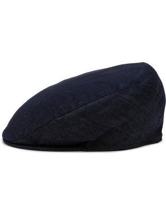Mens Denim Flat Cap