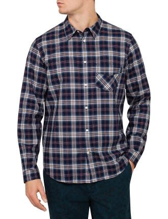 Cotton Linen Check Shirt Classic Fit