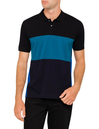 POLO WITH COLOURED PANELS