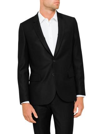 Wool Pique Mid Fit Suit Jacket