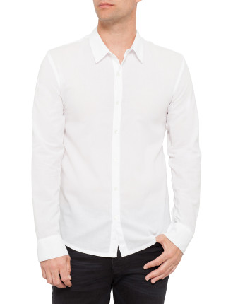 Long Sleeve Standard Thin Cotton Shirt