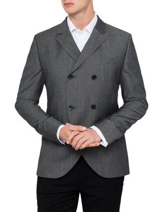 Double-Breasted Slim Fit Sports Jacket