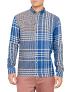 Long Sleeve Linen Asymetric Check Shirt $181.30