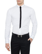 Long Sleeve Eino 1 Slim Fit Contrast Placket Shirt $119.50