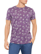 Short Sleeve Palm Tree Print Pocket Tee $118.30