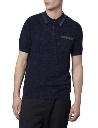 Short Sleeve Cotton Mesh 50'S Inspired Polo