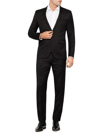 Adris/Heibo1 2 Button Black Suit