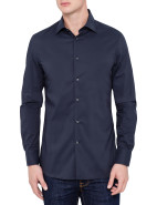 Long Sleeve Daniele Slim Stretch Melange Shirt $189.00